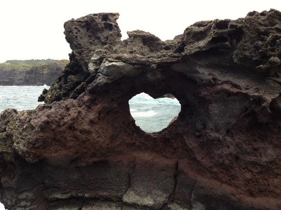 Kaanapali Beach Hotel: Heart Shaped Rock at the Blowhole