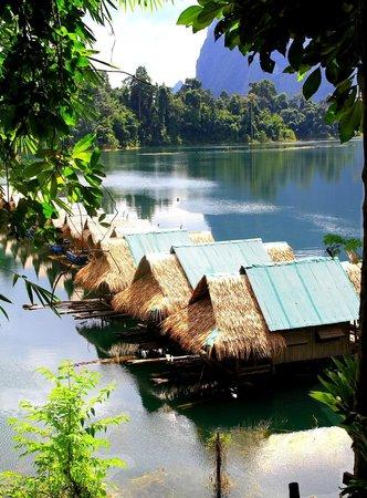 Surat Thani, Thailand: Bungalows flottants sur le lac