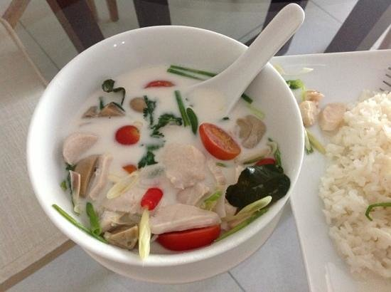 The Chava Resort: Room service - chicken coconut soup