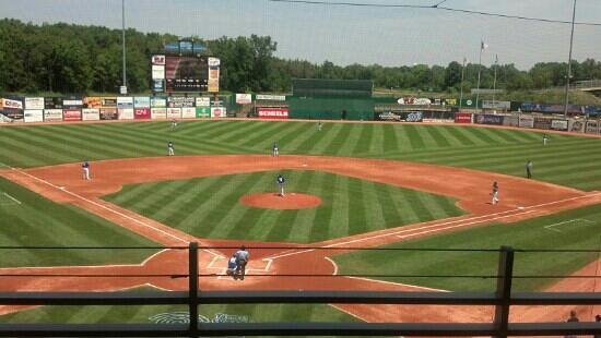 Neuroscience Group Field at Fox Cities Stadium: View from new club seat addition 2013