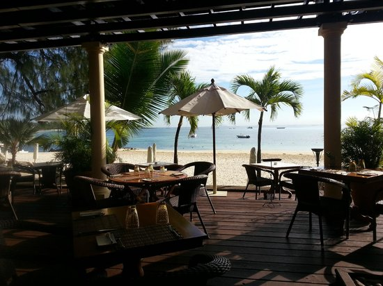 The Residence Mauritius: view from restaurant