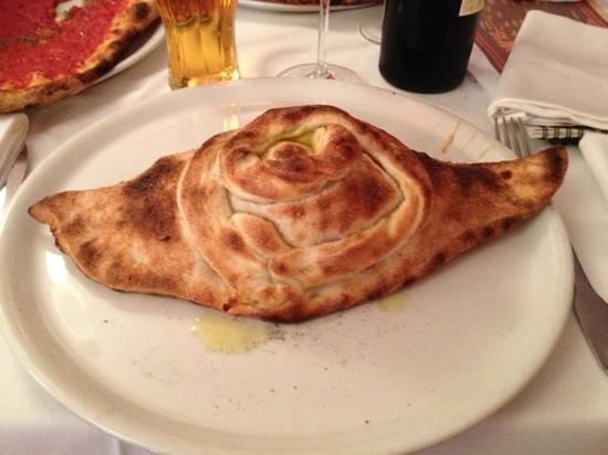 Da Marco : Calzone with ham, cheese,cream and egg- beautiful.