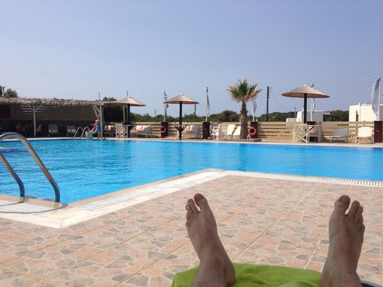 Faros Villa: Relaxing on the first day