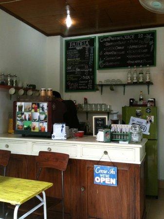 Paideia Coffee Shop: Yip working hard