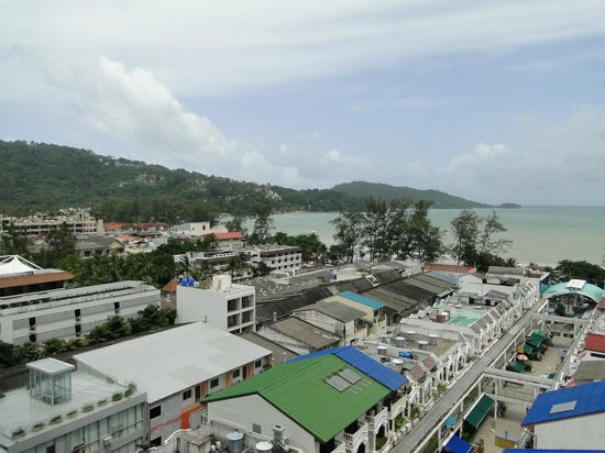 Patong Tower Holiday Rentals: view on left