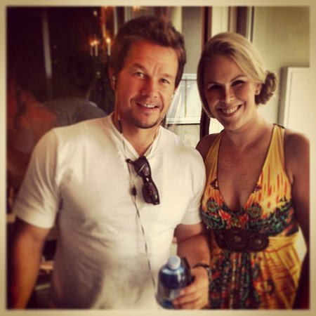 Bella Piatti- not only did I have a great anniversary meal w my husband-- I met Mark Whalberg!
