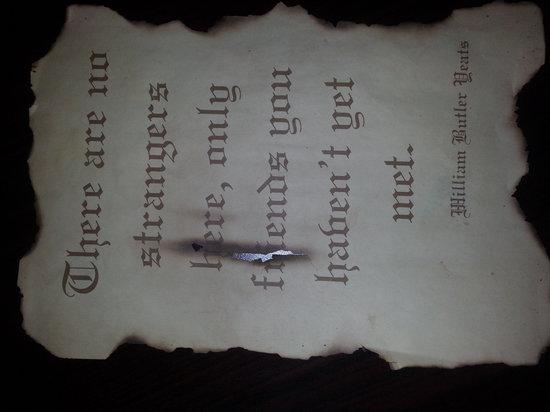 Tro's Pub: William Butler Saying