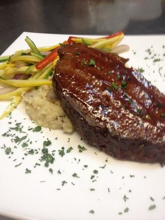 South Beach Grill: chef James bacon and cheddar stuffed meatloaf