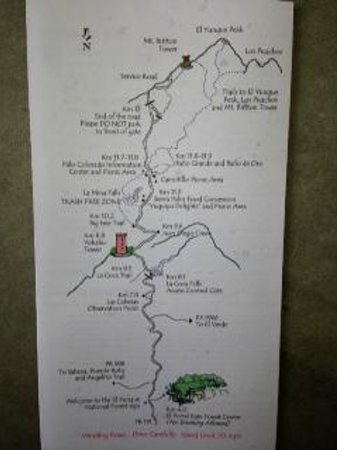 El Yunque Rain Forest: El Yunque Map