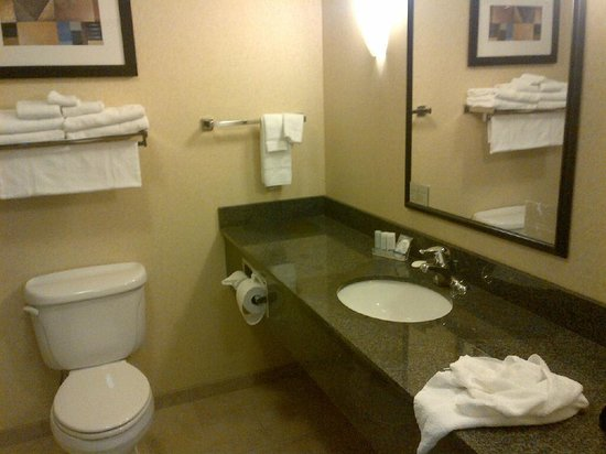 Sleep Inn & Suites: HUGE BATHROOM