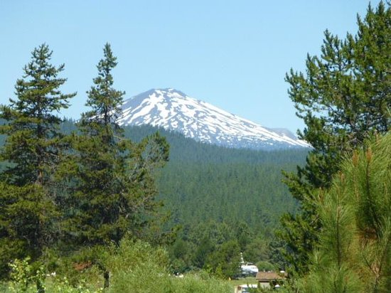 Sunriver Resort: The best view of Mt Bachelor from resort!