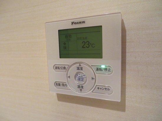 Hotel Resol Hakata : 部屋エアコン調整スイッチ