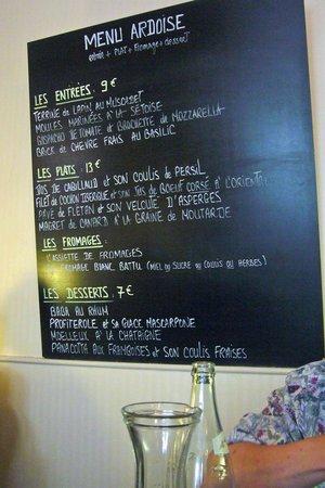Au pourquoi pas : Lunch Menu - Pourquoi Pas, Dijon