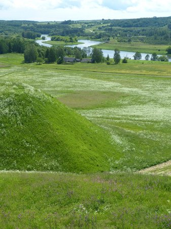 Lithuania: Looking out over the hill fortifications towards the Neris river.