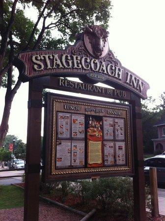 PJs Stagecoach Inn: Stagecoach Inn - Sign