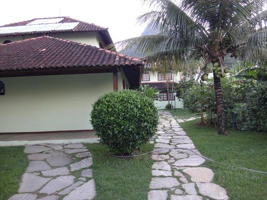 Pousada Recreio da Praia: Vista desde el pasillo hacia las habitaciones
