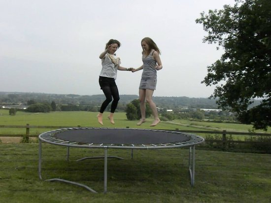 Colthrop Manor B&B: the trampoline