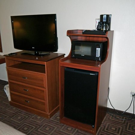 Comfort Inn Asheville Airport : tv/micro/fridge/coffee