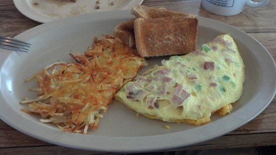The Cozy Cafe: western omlet