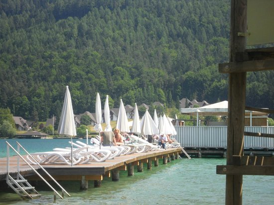 Amerika-Holzer am See: Private sun beds and sauna