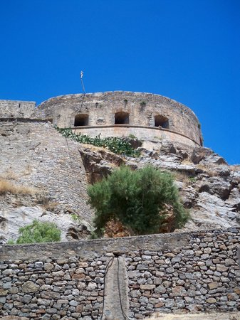 Spinalonga Village : Sadly the Cross has been taken down