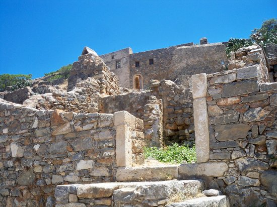 Spinalonga Village : Restoration continues on the Island
