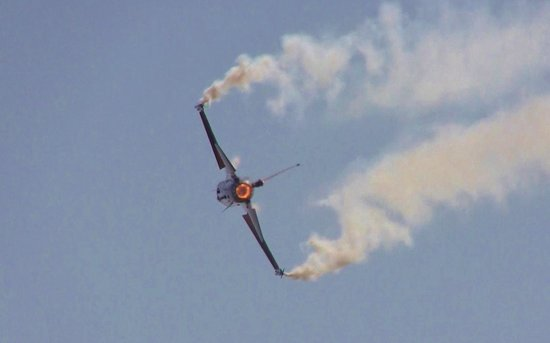 RAF Waddington Airshow: F16 of the Belgium air force