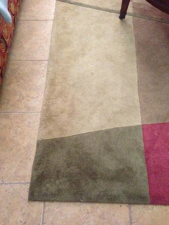 Cliffs at Peace Canyon: dirty area rug in living room