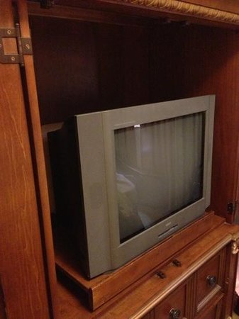 Cliffs at Peace Canyon: old tube tv's in every room