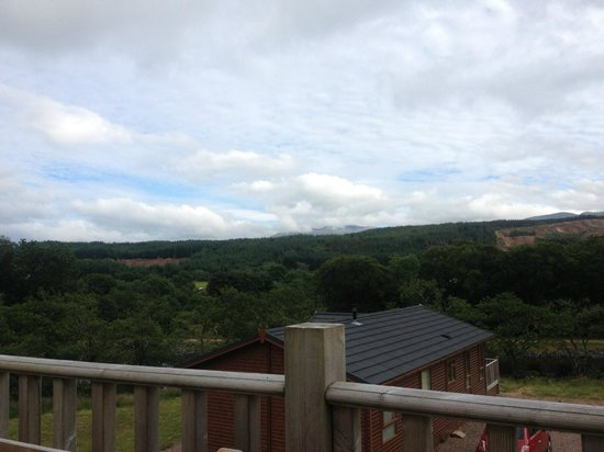 Lochaber Lodges: View from Escape Lodge