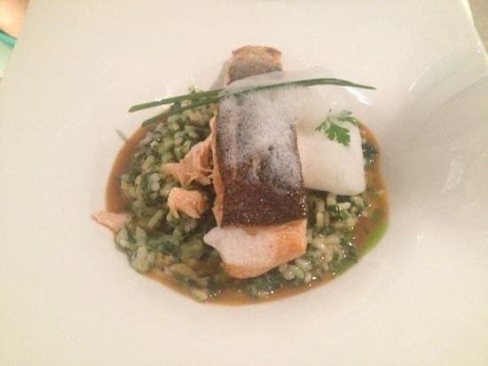 Apocalypsis Restaurant : salmon and spinach risotto