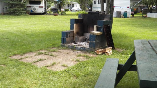 Israel River Campground: private fire pit / picnic table & Gas grill