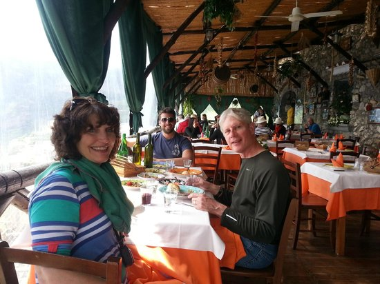 Private Tours of Southern Italy: Wonderful restaurant with great views of the Amalfi Coast- best food ever!