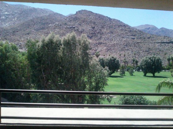 Hyatt Palm Springs: view from our corner moutain view king room