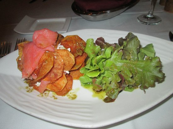 The Grille : Salmon Starter was delicious
