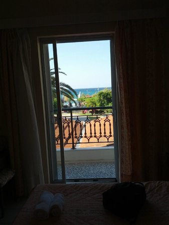 Anetis Hotel: view to the balcony