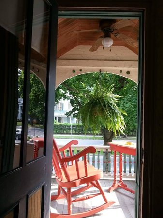The Brunswick at Saratoga : View from our room of our private 2nd floor balcony.