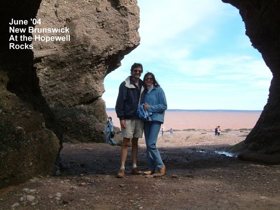 Fundy National Park: Standing on the 'sea bottom' before the tide comes in.