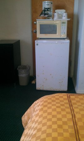 Days Inn Ormond Beach Mainsail Oceanfront : gross fridge