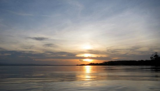 Bocas Villas: sunset view from bungalow