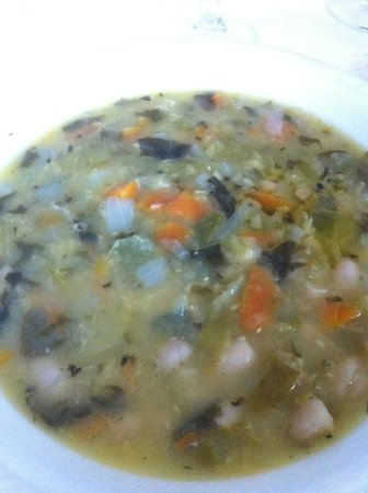 Hotel Ristorante Cuney: Zuppa di verdura