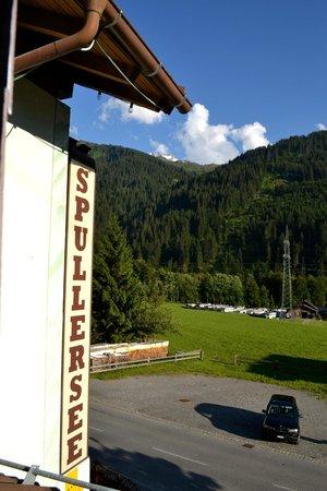 Gasthof Spullersee Wald am Arlberg: View From Room 16 Gasthof Spullersee