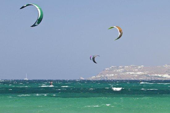 Kite Mykonos : beautiful clear waters