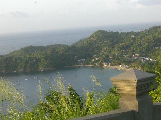 Alibaba's Sea Breeze Apartments: Blick auf Castara