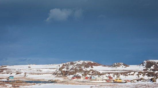 Blick auf Kongsfjord Gjestehus