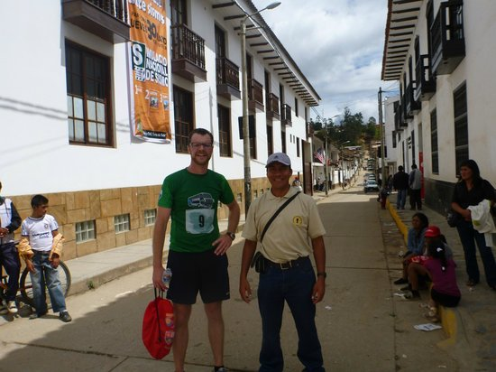 Chachapoyas Backpackers Hostal: I ran a 10KM race....kind of impromptu. Jose was there to meet me at the finish line.