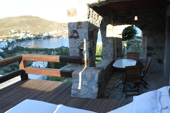 Theologos Houses : Very nice balcony with great view