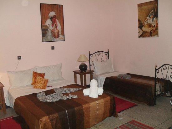 Riad Koutoubia : triple chambre avec salle de bain privé