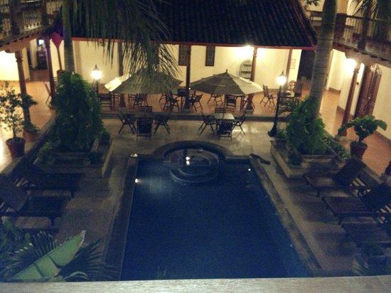 Hotel Plaza Colon: Vista desde el balcón de la habitación 216