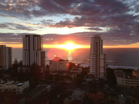 Capricornia Apartments: Sunset from room 65